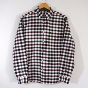 American Eagle Mens Gingham Check Shirt Large